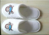 hotel amenities velour disposable hotel/home/indoor animal photo slippers for child