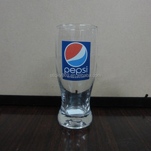 LY8636 pepsi cola drinking glass machine blow cheap glassware wholesale promotional pepsi glass cup for 270ml