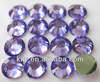 Nice Hot fix quality korea crystal dmc rhinestones,violet color