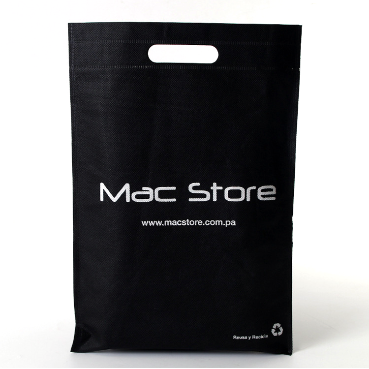 promotional bag Custom print <strong>eco</strong> friendly die cut non woven carry ultrasonic heat seal gift packaging shopping bag with logo