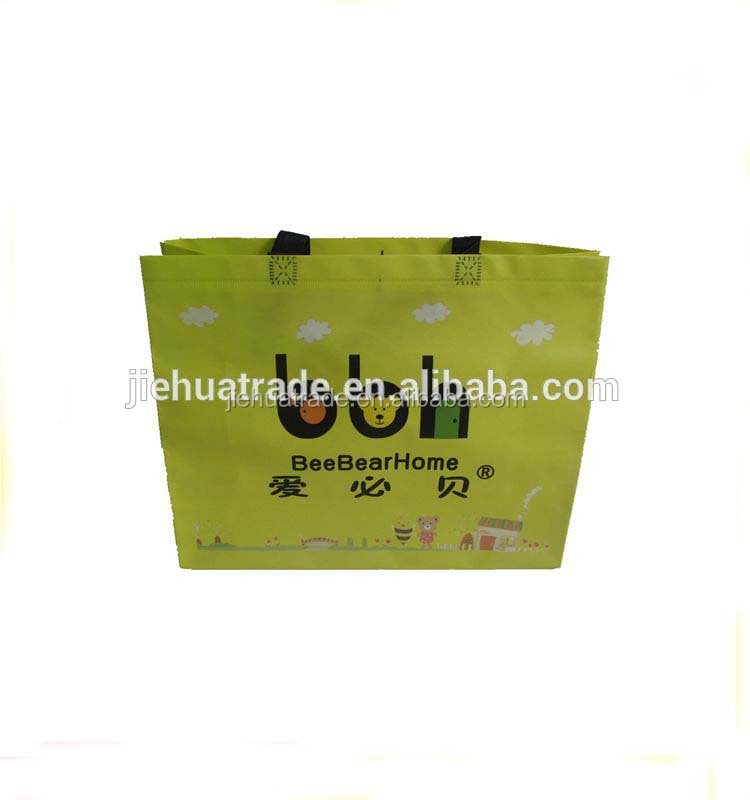 Recycled promotional customised printing shopping tote non woven laminated bag
