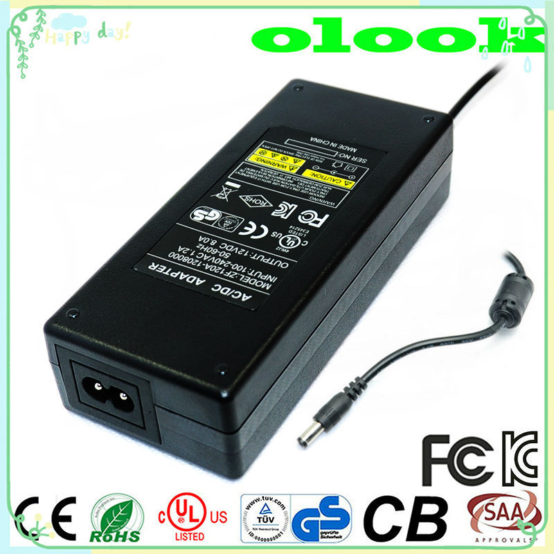 12 volt power supply switching AC DC adapter 12V 8A power ac adapter with CE UL CUL SAA GS approval