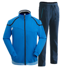 Wholesale athletic wear latest design tracksuit men plain cotton sweat suits