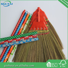 Hot sale India soft brush broom with wood broom stick