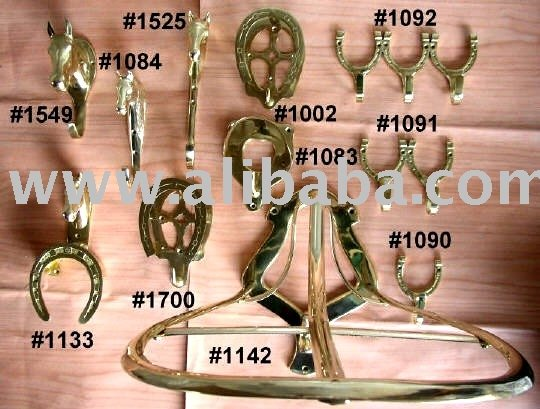 Solid Brass Stable / Tack Room Necessities