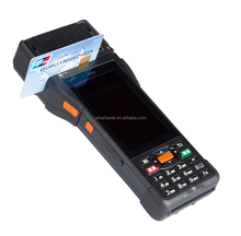factory rugged 3g wireless retail restaurant mobile pos terminal with printer barcode scanner fingerprint P9000