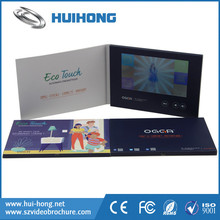 Hot Promotional Advertising lcd video greeting card