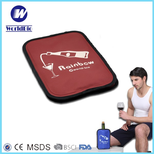 Reusable Insulated Gel Ice Cooler Wine Carrier Bag