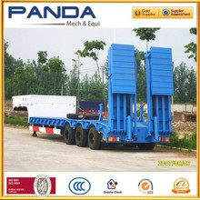 NEW design Steel material tri-axle heavy duty equipment transporter semi low bed trailer for sale