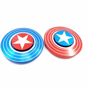 Metal material captain america fidget spinner for Autism and ADHD