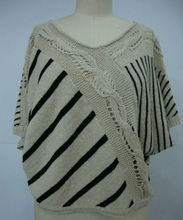 Brand new handmade sweaters stripy sweater for women knitted stripe