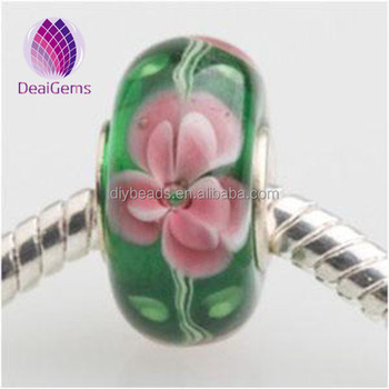 14x7mm 4.5mm hole for jewelry making lampwork glass large hole beads