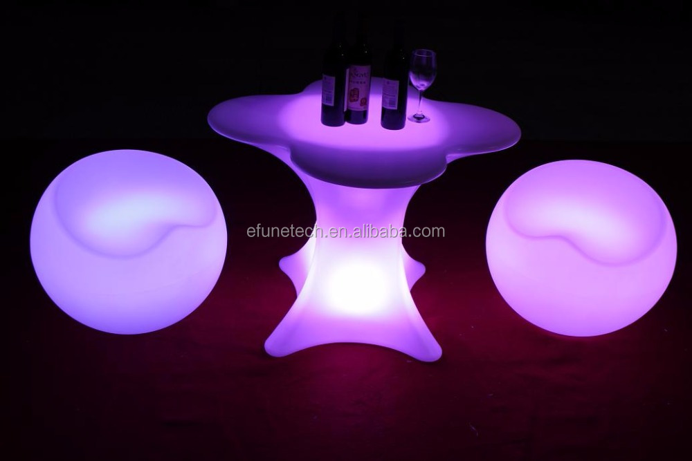 outdoor bar and lounge furniture illuminated rgb color changing led ball chair