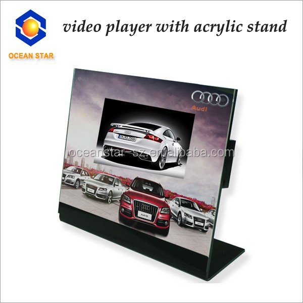 lcd desk player advertising video player cardboard advertising display stands