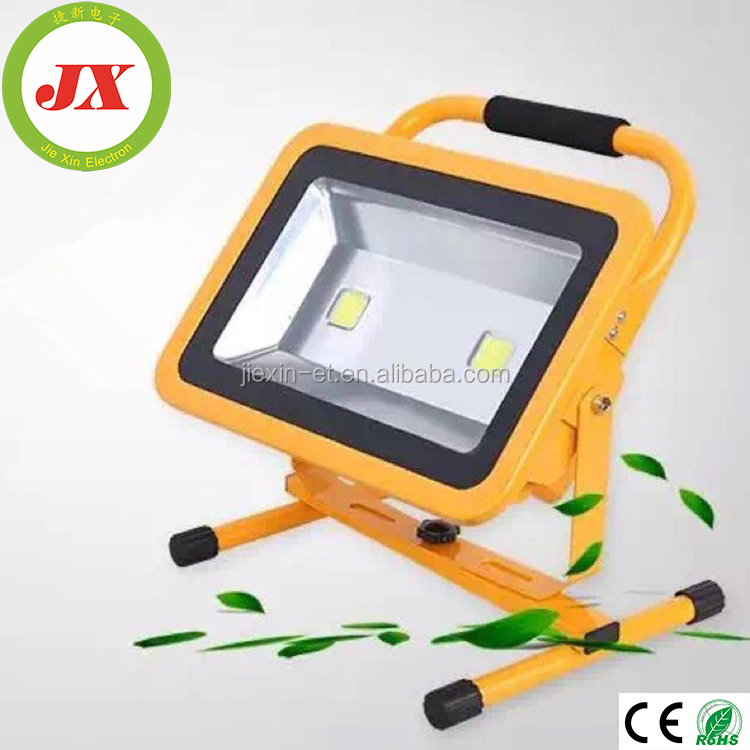 2018 Double control Aluminum Alloy rechargeable battery led flood light Working lamp