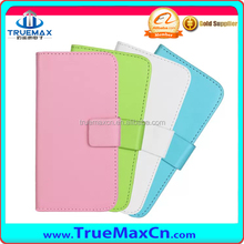 Protective real genuine leather cover case flip wallet stand case for HTC One M8 mini with card slot