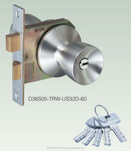High quality door knobs with dimple key lock for superior crime prevention