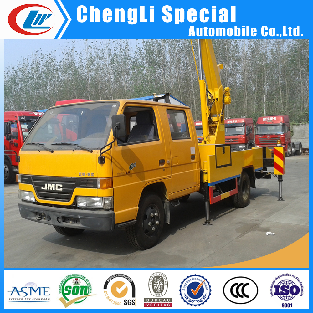 6-24m High aerial working platform JMC altitude operation truck 4x2 high lift bucket truck