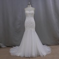 High quality lace body and tulle skirt fit lace sweetheart bridal wedding gowns