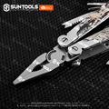 Hot-sale functional camo-coating handle stainless steel folding pliers