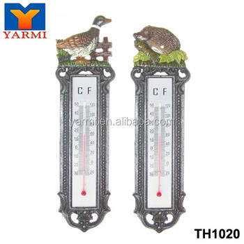 COLORFUL ANIMALS METAL GARDEN THERMOMETER