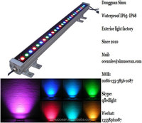 IP65 RGB CE linear 1000MM 36 W led wall washer light for wall, building From 5 Years Dongguan simu lighting factory