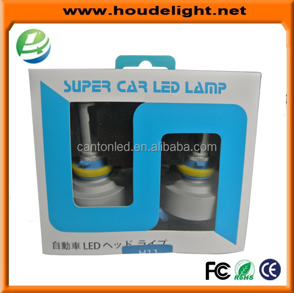 Factory Auto Car led headlight no wiring no fan design ,Plug and Play high quality car led headlight