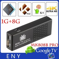 Amlogic S905 quad core A53 64bit 2GHZ android 5.1 mini pc MK808B PRO android 4.4 tv stick