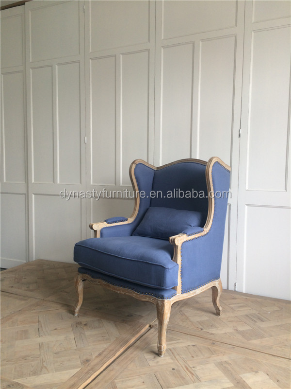 bedroom home indoor goods design wooden blue antique sofa
