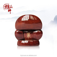 Chinese wood traditional handicraft items miniature wood coffin box for ashes