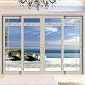 thermal break double glass exterior sliding glass door for balcony