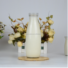 Custom Empty 1 Liter Liquor 1000ml Glass Milk Bottles Weight