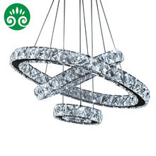 XingJun 3 Round Circle LED pendant lighting chandelier / Crystal chandelier light