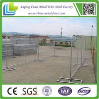 Easy to install portable temporary construction fence panels