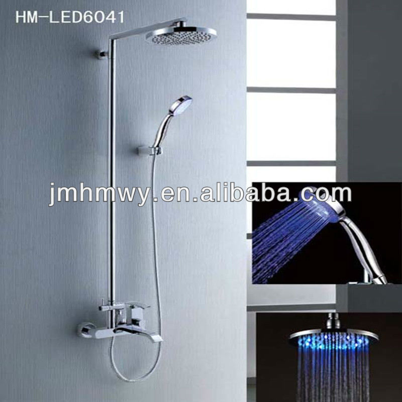 New style led high pressure shower head set