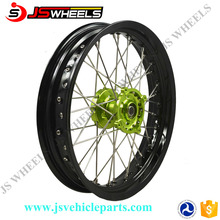 Kawasaki Racing Sport Dirt bike 17 Inch CNC alloy Spoke wheels