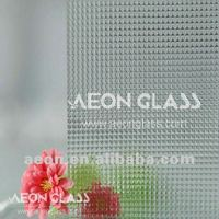 3mm-8mm Clear Crystal Patterned Glass with CE&ISO certificate