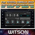 WITSON DOUBLE DIN CAR DVD For TOYOTA COROLLA/AURIS 2017 WITH STEERING WHEEL CONTROL FRONT DVR CAPACTIVE SCREEN