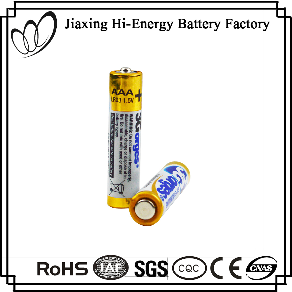 Good Quality 1.5V LR02 AM4 AAA Alkaline Maintenance Free Dry Battery