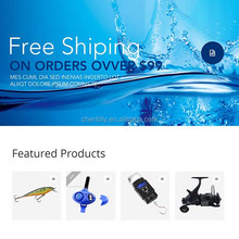 Fishing tackle web shopping and free package design, free google adwords