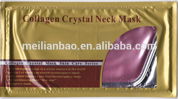 2015 new products <strong>q10</strong> facial mask collgagen crystal neck mask
