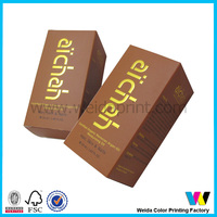 Professinal custom made cosmetic paper olive oil box wholesales