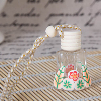 hotsale custome made glass hanging car perfume bottle
