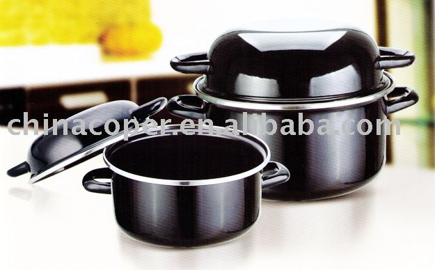 porcelain enamel non-stick potato pan-kitchenware