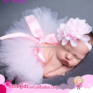 Baby Girl Super Soft Bowknot Tutu Skirt Headband Newborn Toddler 1st Party Birthday Photo Prop Costume Cake Smash Outfit