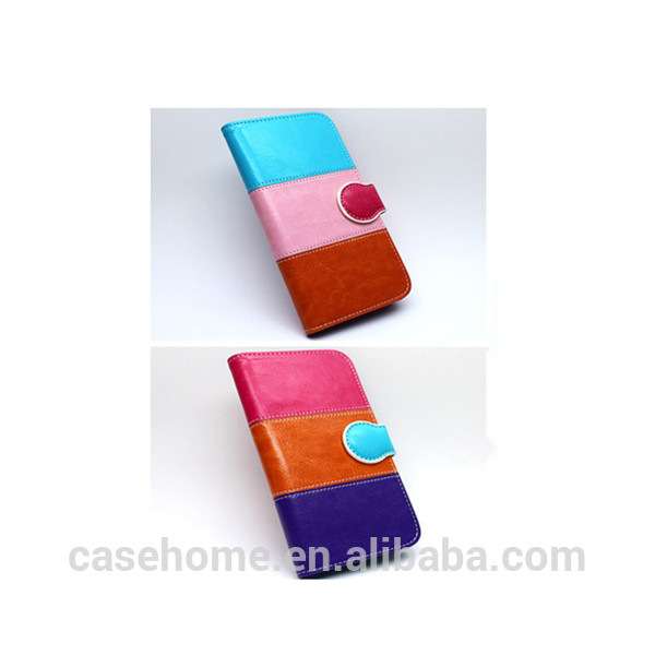 nice craft rainbow color magnetic wallet leather cases with card holders for htc desire 826 phone capa