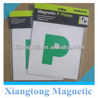 3D Magnetic P Plates New Design Magnetic Car Sticker/Car Magnets