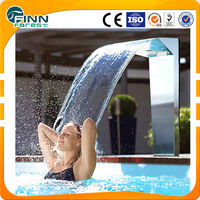 swimming and spa pool stainless steel fully covered outdoor pool shower