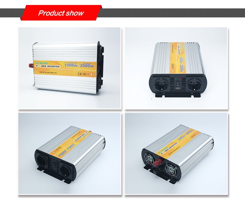 12 volt 220 volt 1000w off grid solar power inverter for home