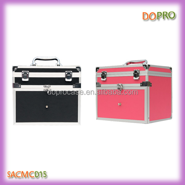 Easy carry nail art tool storage case aluminum nail polish carry box